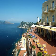 Hotel Caesar Augustus... on the island of Capri in the Tyrrhenian Sea off the Sorrentine Peninsula on the south side of the Gulf of Naples in the Campania region of Italy.