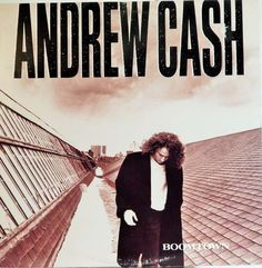 "ANDREW CASH: BOOMTOWN 12"" VINYL LP (1989)  RARE COLLECTIBLE VINYL LP"