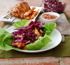These Spicy Grilled Yucatan Chicken and Shrimp Lettuce Wraps are the perfect healthy game day recipe.