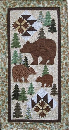 bear quilted table runners | Monday, February 25, 2013