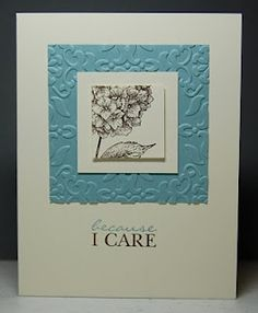 Because I Care - would also work w/ the hydrangea from Best of Flowers... other flower stamps probably as well.