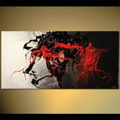 Modern abstract painting by the artist Osnat Tzadok. Choose from thousands of modern, contemporary and abstract paintings in this online art gallery. Action Painting, Abstract Canvas Art, African Art, Online Art Gallery, Modern Art, Fine Art, Art Paintings, Artwork, Black