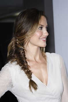 Loose fishtail braid = edgy and soft.