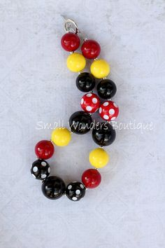 Minnie Mouse Inspired Chunky Beaded Necklace
