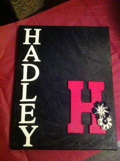 Kids DIY craft. Canvas, paint, letters all from hobby lobby
