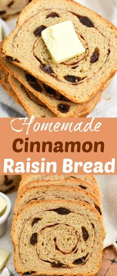 Cinnamon raisin bread is sweet and soft with swirls of cinnamon, sugar, and plump raisins. A family favorite comfort bread that you will want to make every weekend.#bread #homemade #yeast #cinnamon #baked #raisin Italian Bread Recipes, Savory Bread Recipe, Recipes With Yeast, Best Homemade Bread Recipe, Healthy Bread Recipes, Yeast Bread Recipes, Muffin Recipes, Sweet Roll Recipe, Cinnamon Raisin Bread