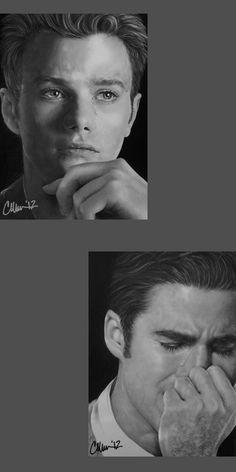 Broken Open - Drawings by ~Live4ArtInLA on deviantART (Kurt Hummel / Blaine Anderson, Klaine, Chris Colfer, Darrin Criss, Glee Fanart)