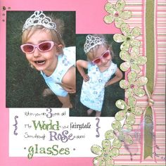 Find Page Ideas: Designing Scrapbook Pages with Flowers