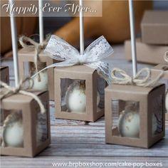 Cake Pop Wedding Favor Boxes at BRP Box Shop #cakepopboxes #favorboxes…