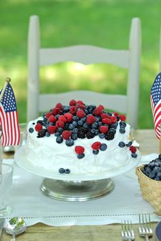 Jenny Steffens Hobick: Red, White & Blueberry Ice Cream Cake for the 4th of July