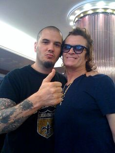 Two big men: Phil Anselmo (Down/Pantera) and Glenn Hughes (ex Deep Purple)