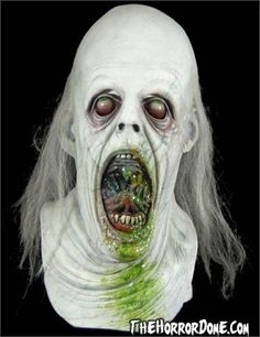 Discover a ghoulish character for the haunted house or costume party with the Repossessed Collector Halloween Mask. Take home a unique Horror Dome original. Halloween Animatronics, Monster Mask, Ghost And Ghouls, Horror Masks, Head Mask, Halloween Masks, Halloween Forum, Macabre, Dark Art