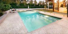 polished concrete pool surround Honed Concrete, Concrete Pool, Concrete Houses, Polished Concrete, Pool Pavers, Dream Pools, Pool Decks, Pool Designs, Building A House