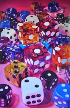 california-dice by Kate Brinkworth, oil on canvas