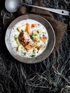 Scandinavian salmon soup
