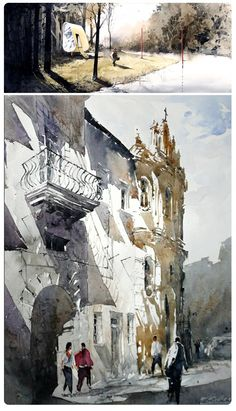 Amazing #watercolor #painting by Rafał Rudko