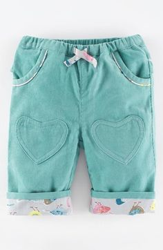 Mini Boden Heart Patch Pants (Baby Girls) available at #Nordstrom