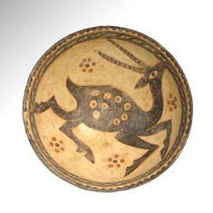 Large Nishapur Glazed Pottery Bowl, Persia 11th Century A.D.