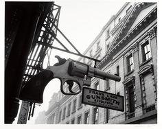 Gunsmith and Police Department, 6 Centre Market Place and 240 Centre Street, Manhattan - Berenice Abbott (American, Springfield, Ohio 1898–1991 Monson, Maine) 1937