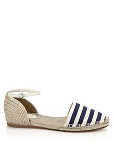 Gucci - Veronique Striped Espadrille Sandals