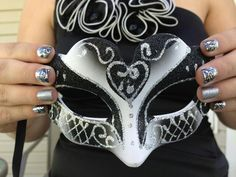 Jamberry Nails for a masquerade ball!