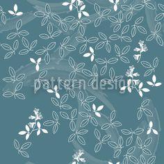 Bushclover Teal designed by Martina Stadler available on patterndesigns.com Vektor Muster, Japan Design, Ornaments Design, Vector Pattern, Surface Design, Teal, Japanese, Embroidery, Outline