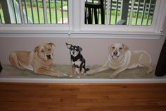 Dog Mural by Tracy Massey Murals