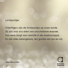 Gedicht over vrijwilligers