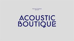 "Kitsuné ""Acoustic Boutique"" -"