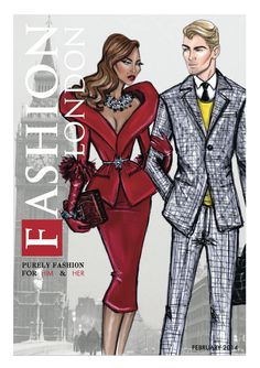 Hayden Williams Fashion Illustrations: Cover of Fashion London Magazine's February Issue