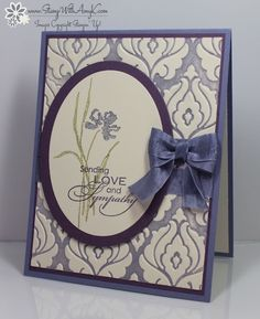 Unfortunately, I needed to send a sympathy card this past week to a sweet friend that I met through Stampin' Up! who lost her Mother-In-Law (also a sweet lady that I met through Stampin' Up!). I u...