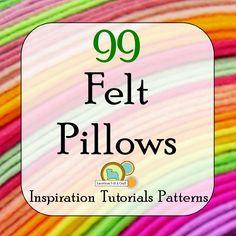 99 Felt Pillows, http://pinterest.com/feltandcraft/felt-pillows/
