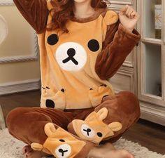 Kigurumi Adult Rilakkuma Bear Pajamas. You gonna love it!