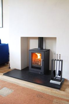 Excellent Screen Fireplace Hearth removal Suggestions Installing A Woodburning Stove Wood Burner Stove, Wood Burner Fireplace, Fireplace Hearth, Modern Fireplace, Fireplace Design, Fireplaces, Wood Stoves, Simple Fireplace, Inglenook Fireplace