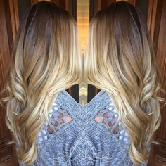 California Blonde • Balayage highlights over a light brown base. #haloroot #styledbykate | Instagram: @StyledByKate_