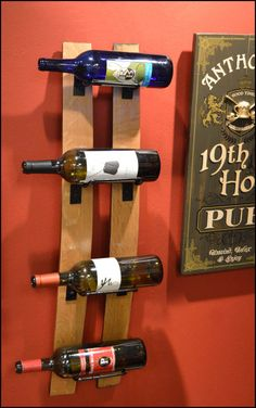Two Stave Bottle Rack