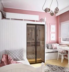 Magnificence and Quality in Every Detail in This Magnificent House! (Get ready to be a fan) Room Decor Bedroom, Girls Bedroom, Small Living, Living Spaces, White Bunk Beds, Kids Room Furniture, Room Carpet, Room Lights, Girl Room