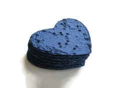 A sympathy gift of blue plantable paper hearts is a way to send your condolences but also give a memorial gift that your recipient can plant in memory of their loved one, be it a pet or a human. Its a great way to express, My heart is blue for you. You have three options for your heart:  * No gift card: hearts include an insert with the planting instructions poem.  * Gift card/no message: The gift card shown in the fourth photo will be included; one side has the planting poem instruction...