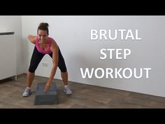 10 Minute Brutal Steps Cardio Workout - Advanced Step Workout - YouTube Step Aerobic Workout, Step Up Workout, 10 Minute Workout, Aerobics Workout, Aerobic Exercises, Training Fitness, Cardio Training, Fitness Tips, Health Fitness