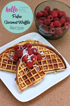 Hello Creative Family shares a Back To Basics Paleo Coconut Waffle Recipe using coconut flour & almond flour along w/ variations on how you can dress it up Clean Eating Breakfast, Breakfast Dishes, Best Breakfast, Breakfast Recipes, Breakfast Ideas, Waffle Recipes, Brunch Recipes, Appetizer Recipes, Party Recipes