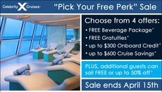 Pick Your Perk on these select Celebrity Cruises!