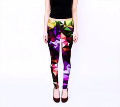 Modern Print Leggings,  Geometric Design Leggings, Yoga Leggings, by TulipeStudio on Etsy https://www.etsy.com/listing/211047477/modern-print-leggings-geometric-design