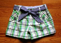 "plaid shorts [mccalls ~ ""notes from a mad housewife"" Sexy Shorts, Cute Shorts, Baby Girl Fashion, Kids Fashion, Little Girl Dresses, Girls Dresses, Short Niña, Sewing Patterns For Kids, Made Clothing"