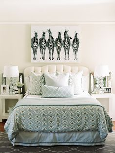 Gal Meets Glam // interior home design house design design decorating before and after Dream Master Bedroom, Glam Bedroom, Home Decor Bedroom, Diy Home Decor, Bedroom Ideas, Pretty Bedroom, Bedroom Art, Master Bedrooms, Bedroom Inspo
