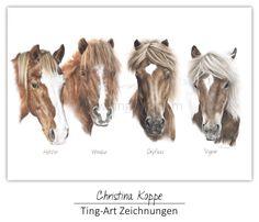 #Zeichnung #drawing #collage #icelandic #horse #horses #Pferd #Pferde #Isländer #Island #Isi #tölt #Tölter #Kunst #art #Buntstift #coloured #pencils