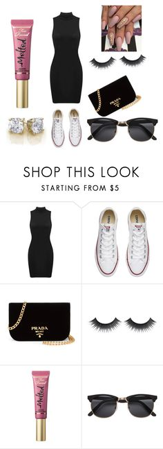 """""""Can't touch this"""" by maexox123 ❤ liked on Polyvore featuring Converse, Prada and Too Faced Cosmetics"""