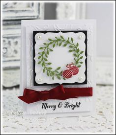 CAS Christmas Wreath by Smoatsmom - Cards and Paper Crafts at Splitcoaststampers