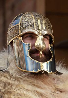 Recreation of Vendel XIV helm. Photograph courtesy G.Kulig & D.A.Huggins.
