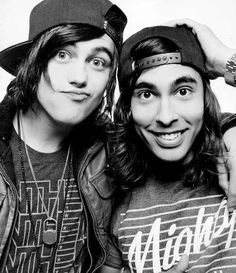 Kellin Quinn and Vic Fuentes..too much gorgeous for one picture