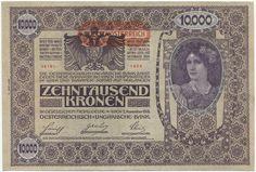 10000 Kronen 1919 (Überdruckprovisorium) II.Auflage Österreich Republik Deutschösterreich
